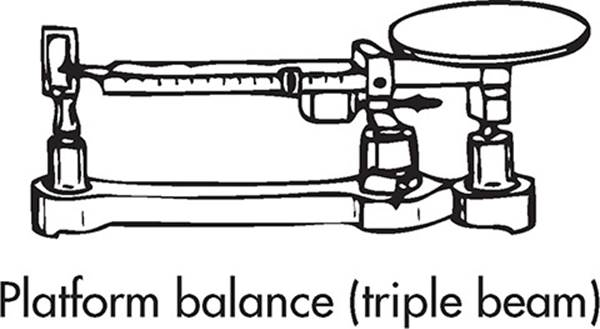 A very precise scale operated by moving a set of three