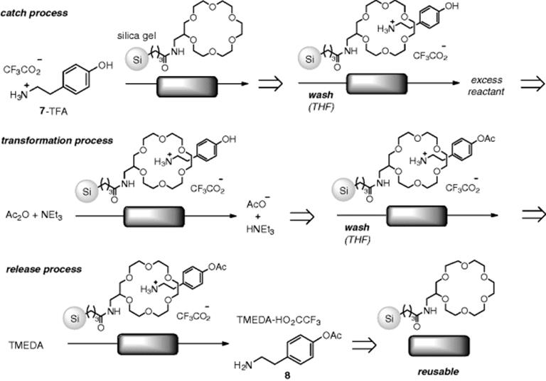 Flow Reactions with an Immobilized Stoichiometric Reagent