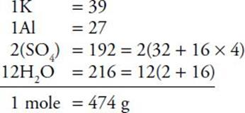 TRY THESE PROBLEMS: Find the molecular mass or formula