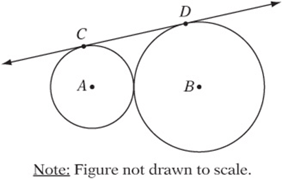 5 . In the figure above, circle A intersects circle B in
