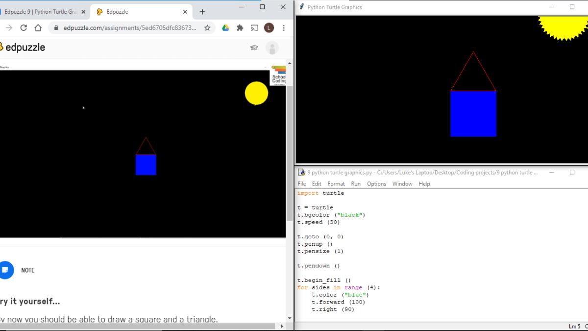 Python: Turtle Graphics Course