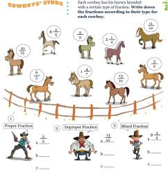 Printable Fractions Math Olympiad Worksheets for kids of Grade 4 - Cowboy  studs [ 3508 x 2480 Pixel ]