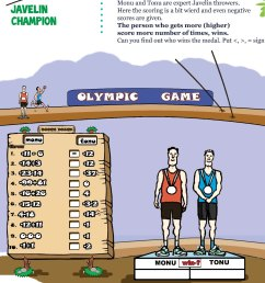 Printable Numbers Math Olympiad Worksheets for kids of Grade 6 - Javelin  champion [ 1754 x 1240 Pixel ]