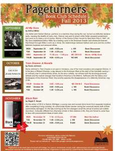 Pageturners Fall 2013 Schedule