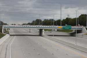 The fully reconstructed I-96 freeway sits empty moments before 'Family Fun Day'. Photo by Tyler Kabrovich.