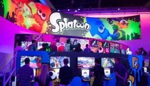 """Image from o.canada.com The 2014 convention was held in Los Angeles, displaying the latest works from game developers, including a video game published by Nintendo, """"Splatoon,"""" which is set to release this May."""