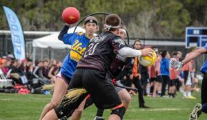 Schoolcraft College's Student Activity Board will be hosting its first ever Quidditch event, which will look similar to the pictured University of California Los Angeles playing the University of Arkansas.