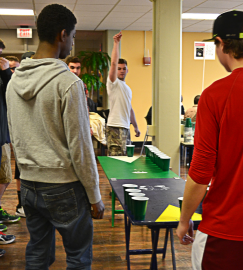 Rootbeer pong is a popular event at the annual mocktail party.