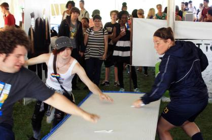 Students go head-to-head in a thrilling game of musical spoons.