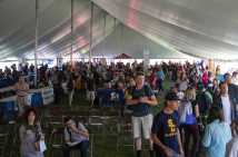 Over 25 vendors stopped by School Daze to give away freebies to festival attendees