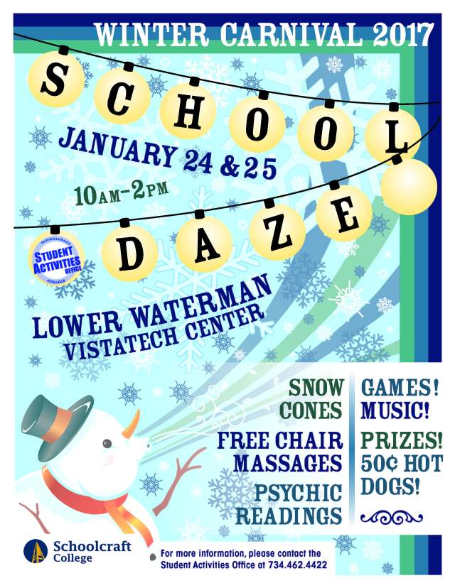 School Daze Winter 2016 Flier