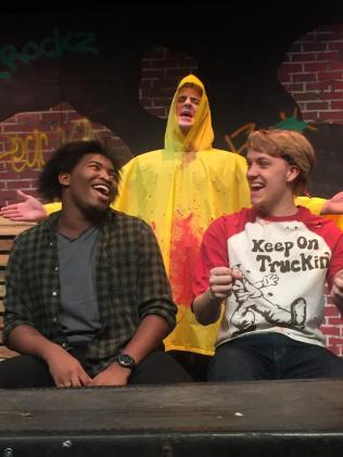 (left to right) De'Ernest Johnson (T-Bone), David Collins, Noah Boye (Weasel)