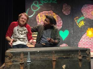 (Left) Noah Boye (Weasel), (right) De'Ernest Johnson (T-Bone)