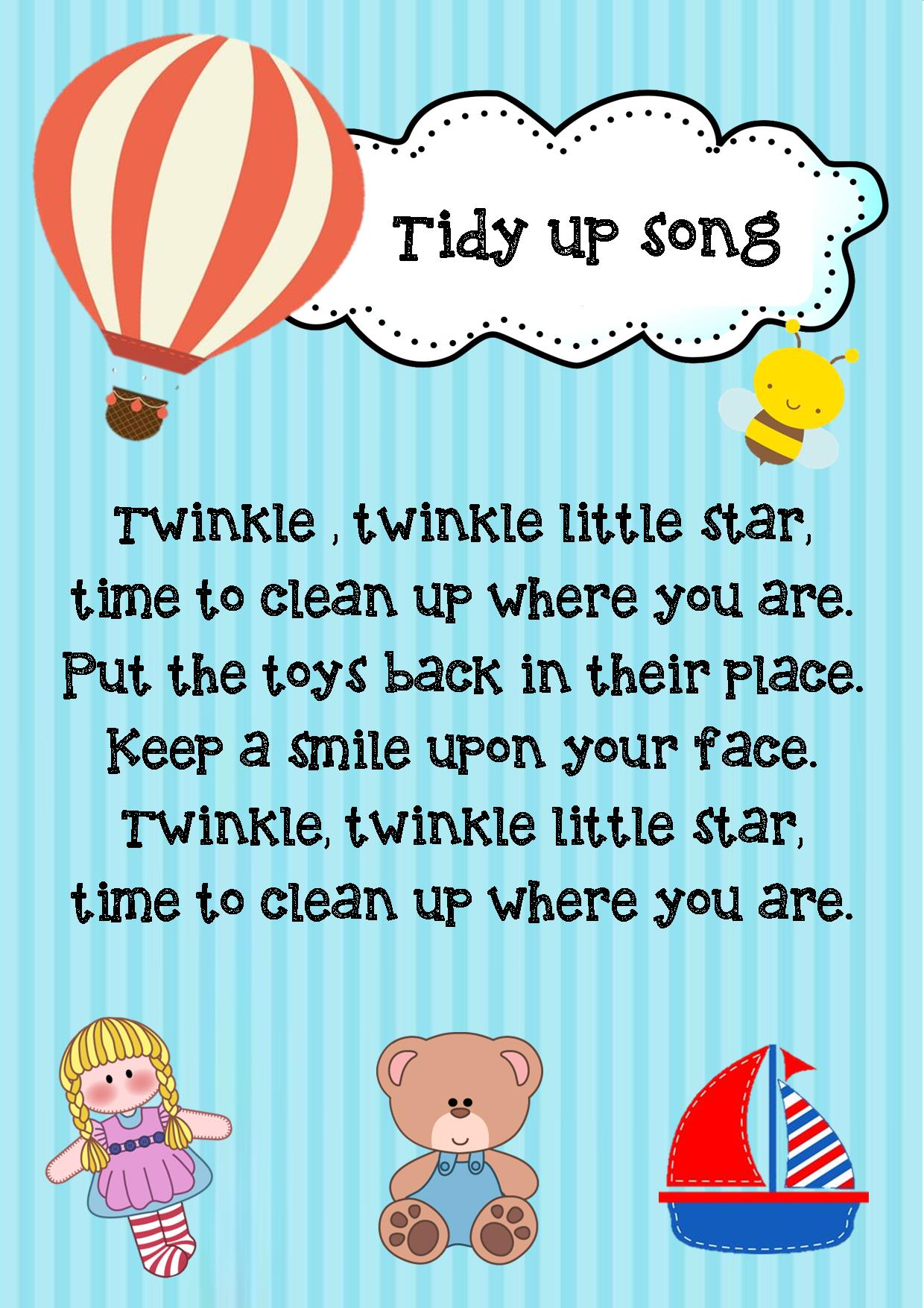 Tidy Up Poem
