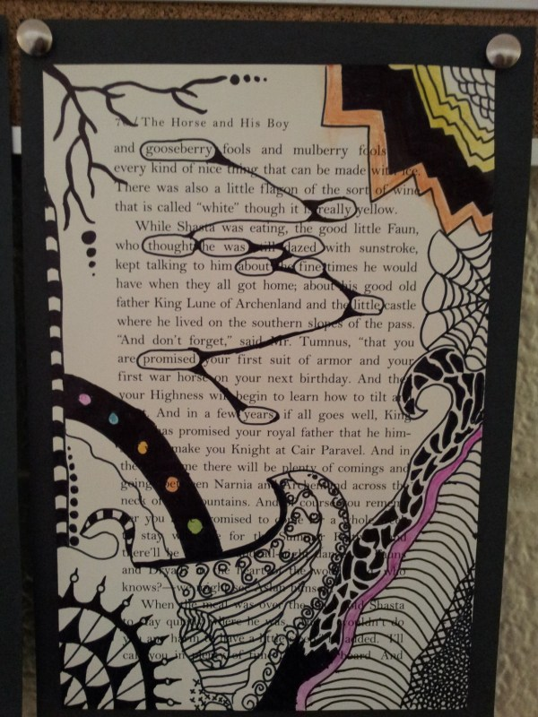 Level 2 Art Finding Poetry In Book Pages Schooled Love
