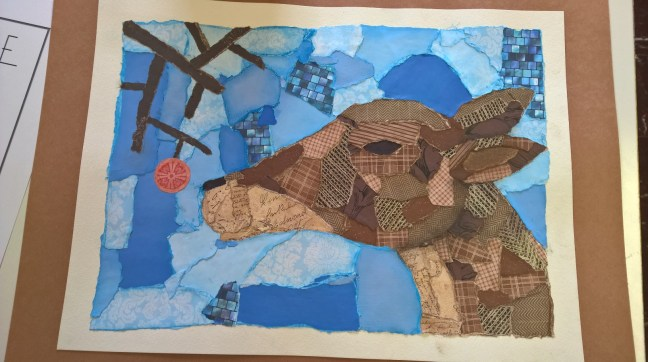 Schooled in Love: Collage Deer
