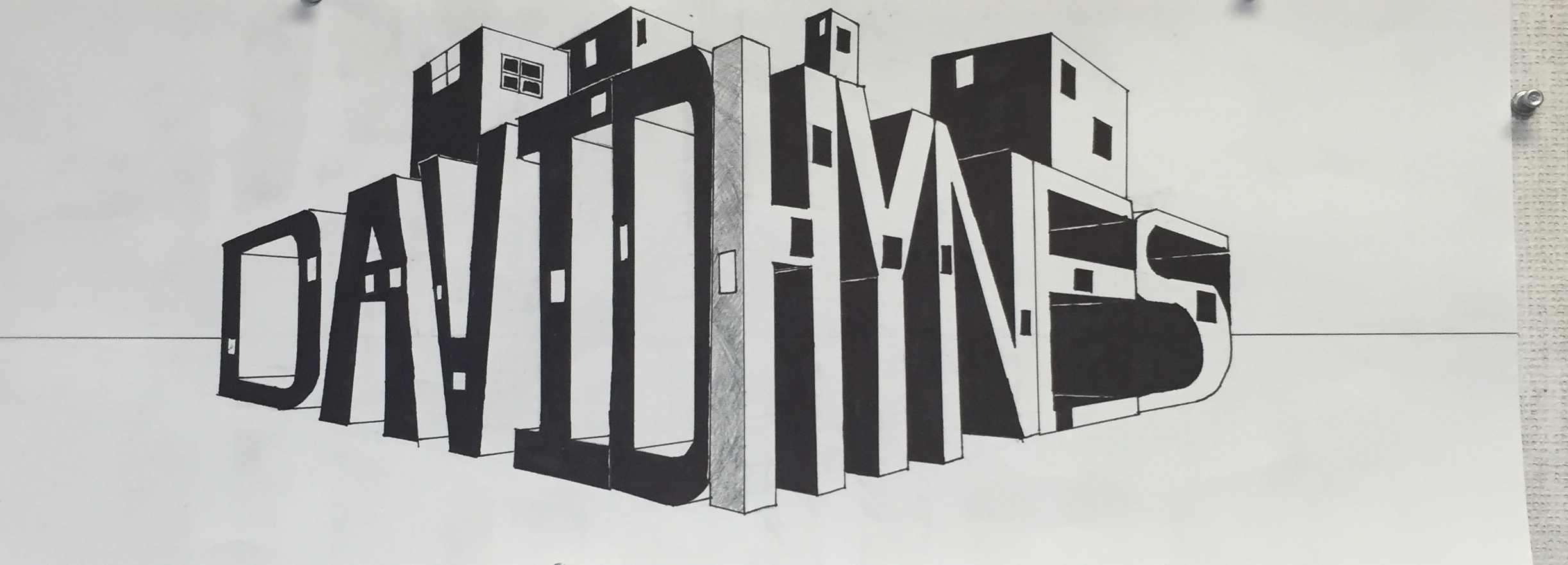 2 Point Perspective Name Drawing