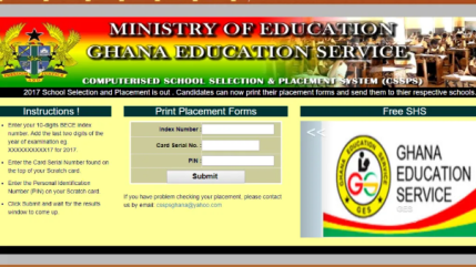 BECE Placement Result