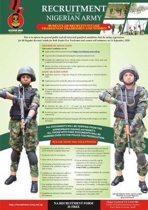 Nigerian Army Recruitment Form Guide