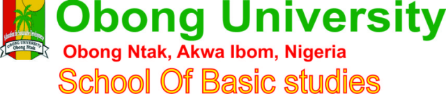 Obong University JUPEB Form