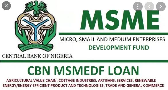 CBN MSMEDF Loan Disbursement Date