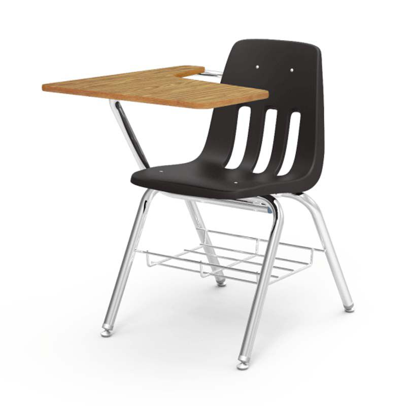 Student Desk And Chair 9000 Series Classic Combo Desk 9700br Blk01 Oak084clr Chrm