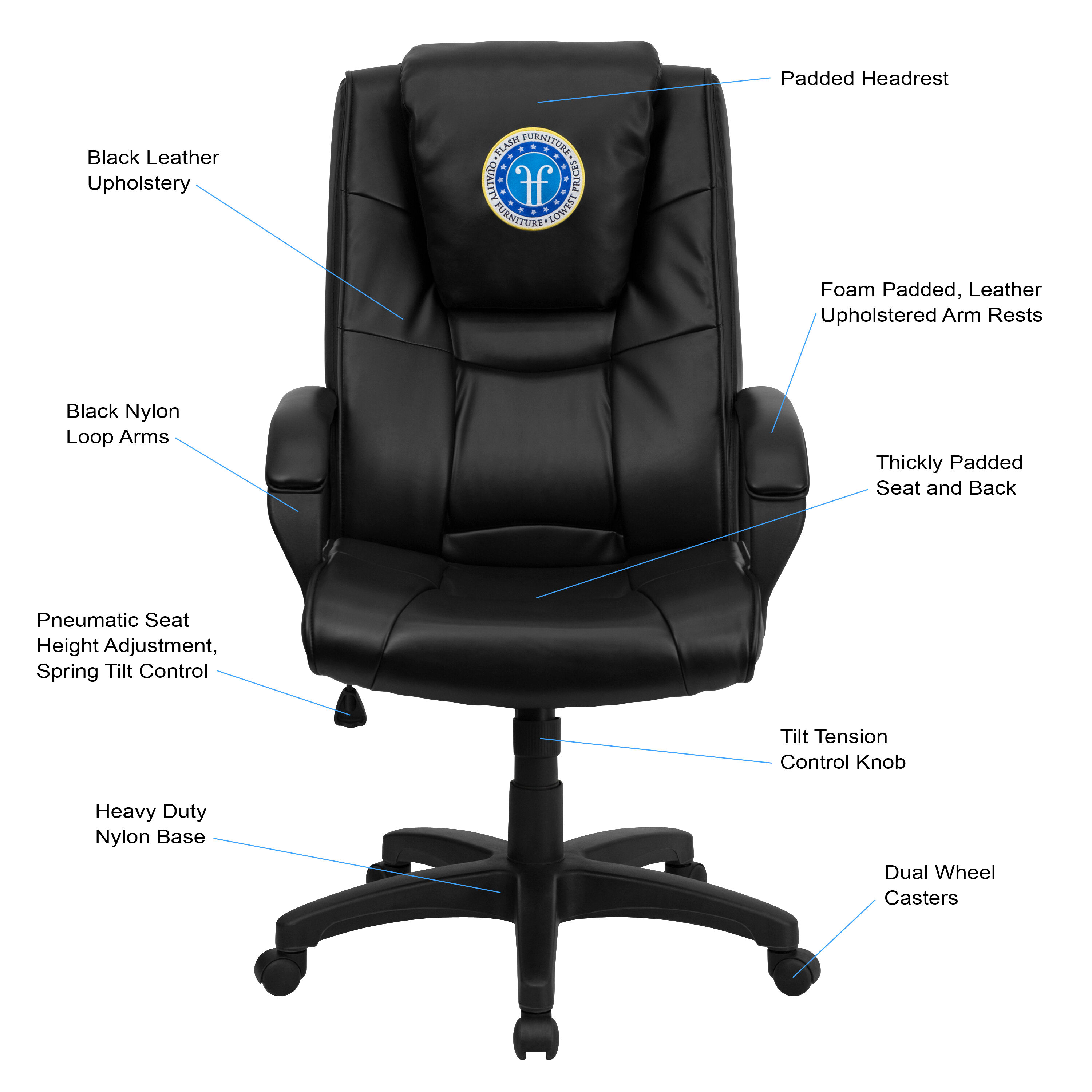 Executive Leather Chair Dreamweaver Personalized Black Leather Executive Swivel Office Chair With Arms