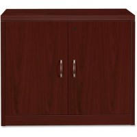 HON Storage Cabinet, with Doors, Mahogany