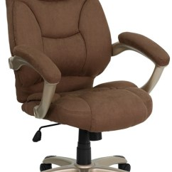 Office Chair High Seat Revolving Bd Back Navy Blue Microfiber Upholstered Contemporary 5 Options