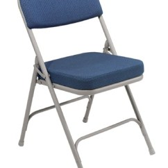 Folding Chair Fabric Wedding Cover Hire Northamptonshire Nps 2 Upholstered Premium Blue Gray Frame 3215