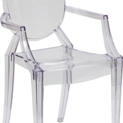 Plastic See Through Chair Floral Accent Chairs Ghost With Arms In Transparent Crystal Fh 124 Apc Clr Gg Jpg