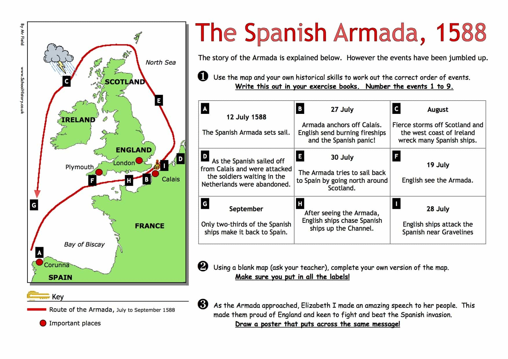 worksheet spanish armada printable worksheets and activities for teachers parents tutors and. Black Bedroom Furniture Sets. Home Design Ideas