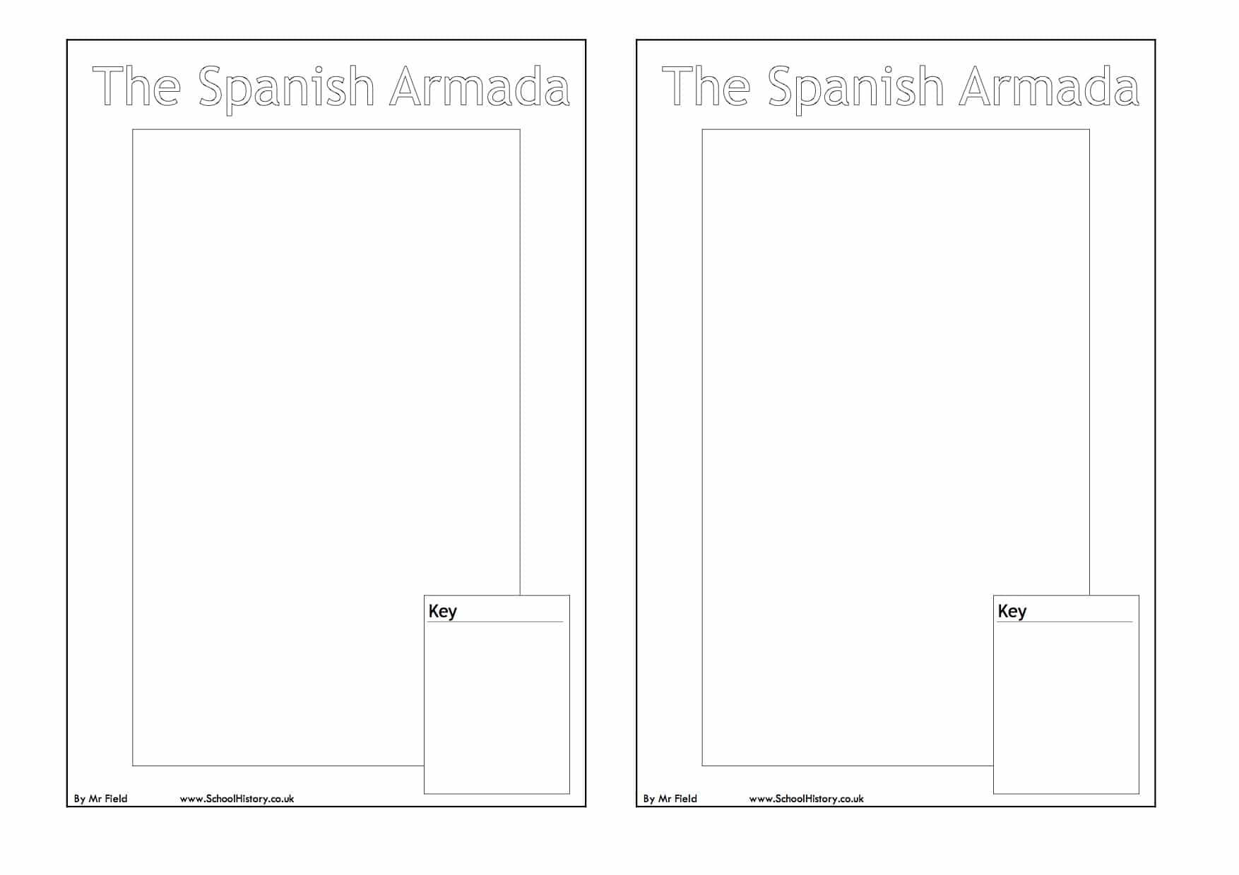 Spanish Armada Map Worksheet