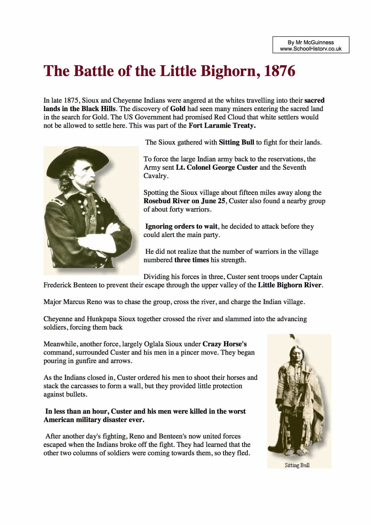 Little Bighorn Key Facts Amp Information