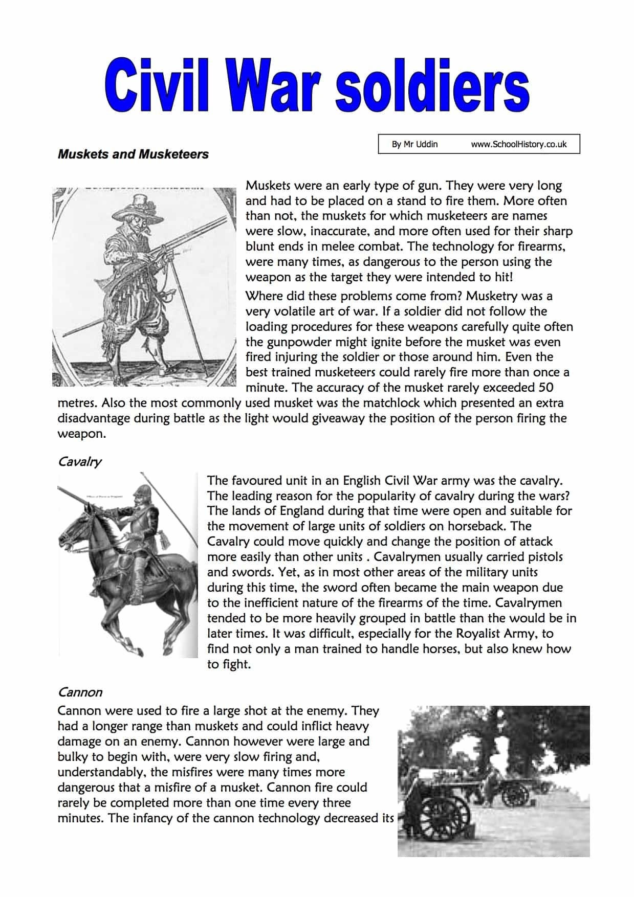 History Worksheets