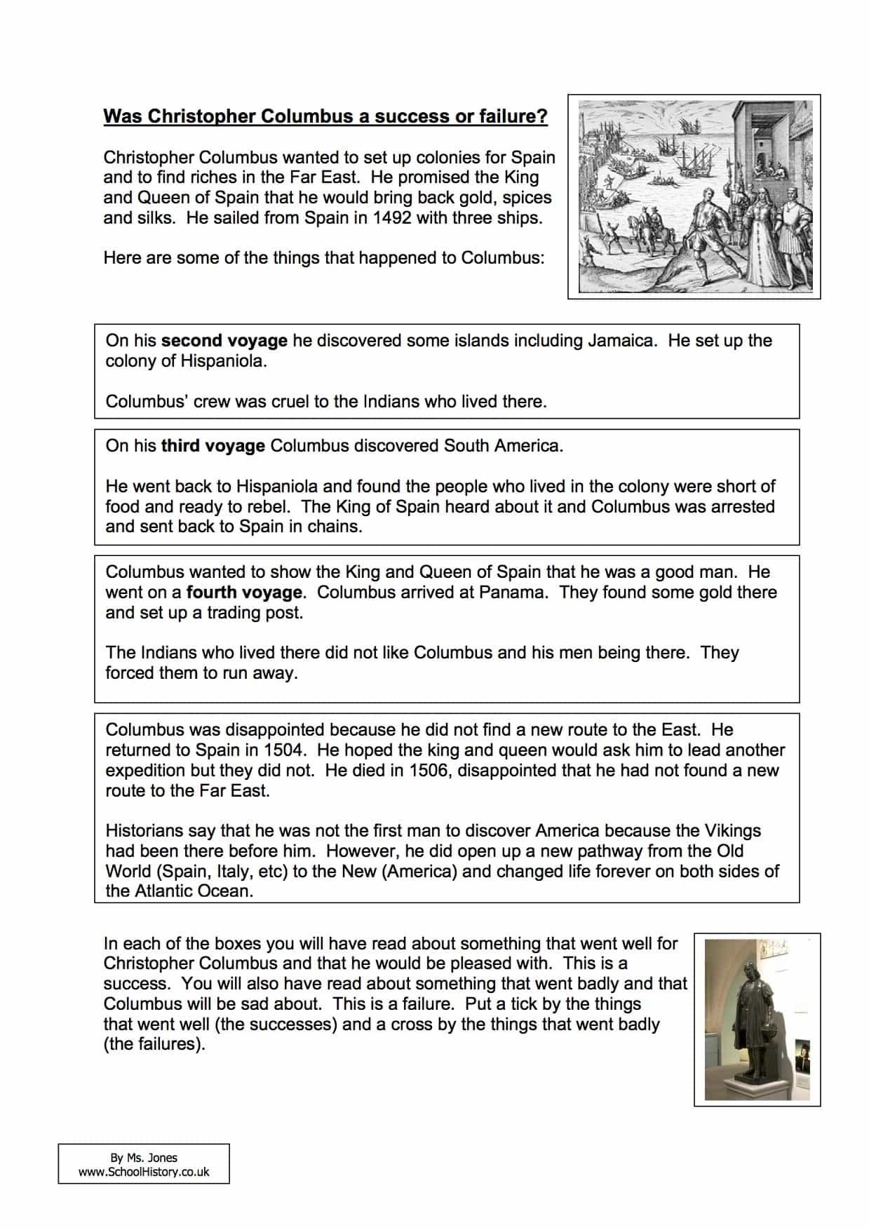 Graphing Worksheet Christopher Columbus