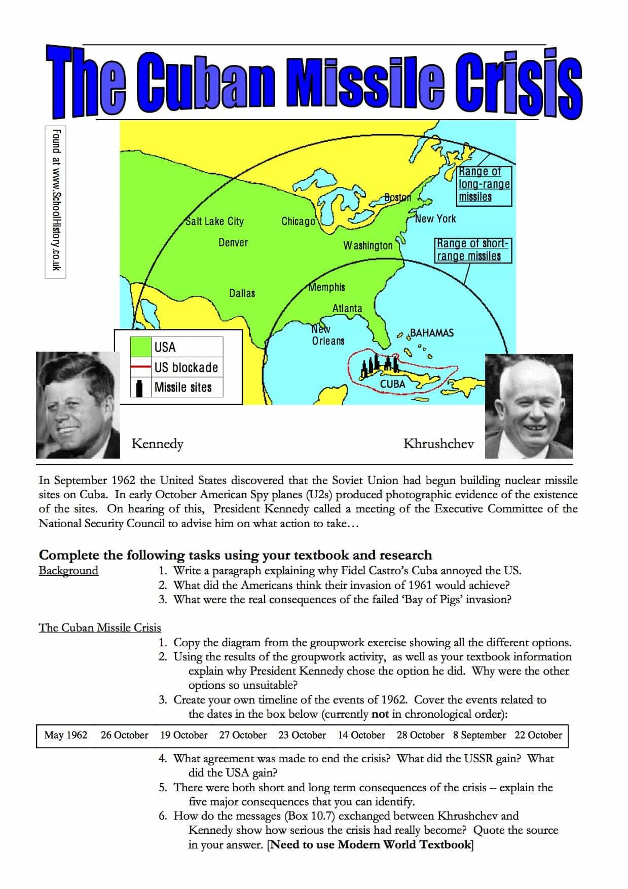 Cuban Missile Crisis Handout