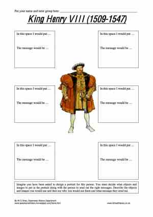 King Henry VIII 15091547 Worksheet | Year 8 Study