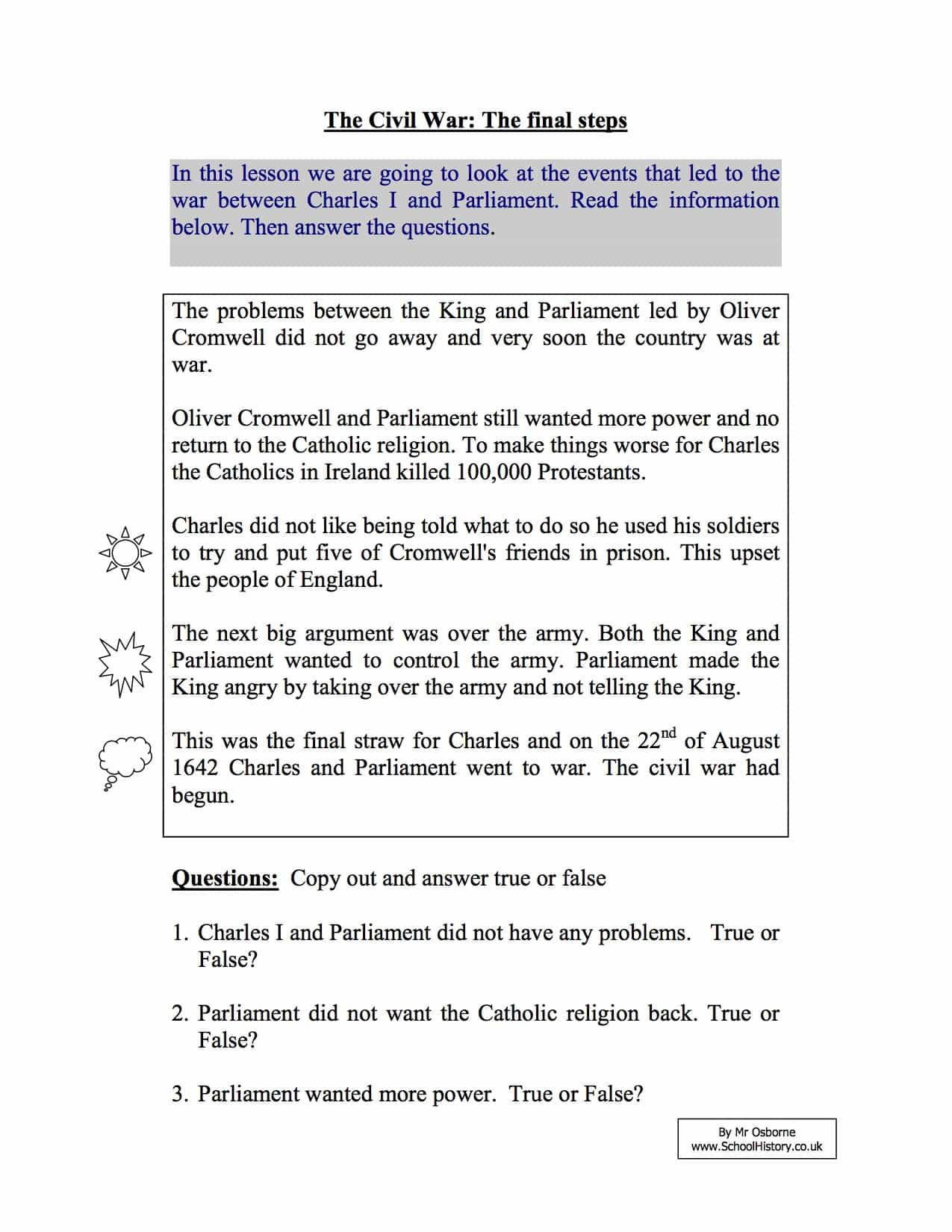 Short Term Causes Of The English Civil War