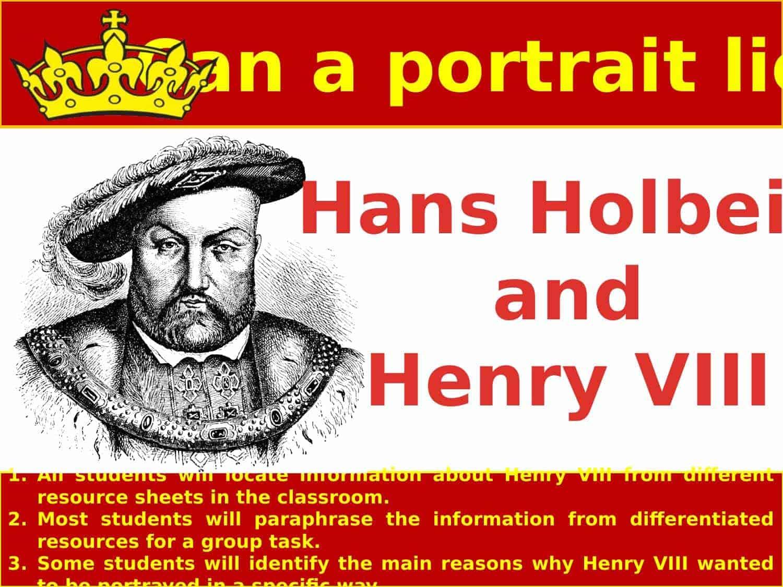 Henry Viii Holbein Portrait