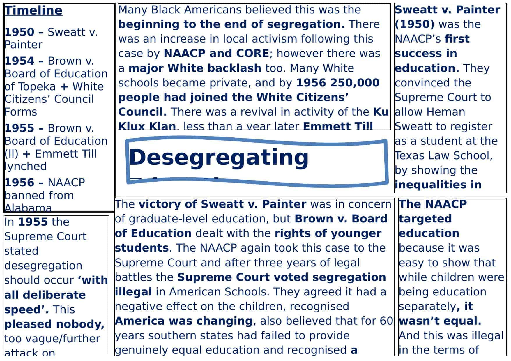 Education And Civil Rights In The Usa Worksheet