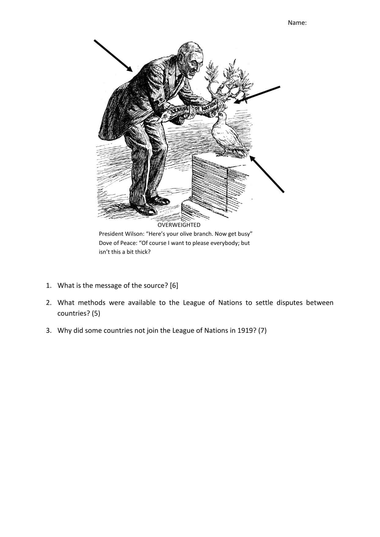 Igcse History Worksheets