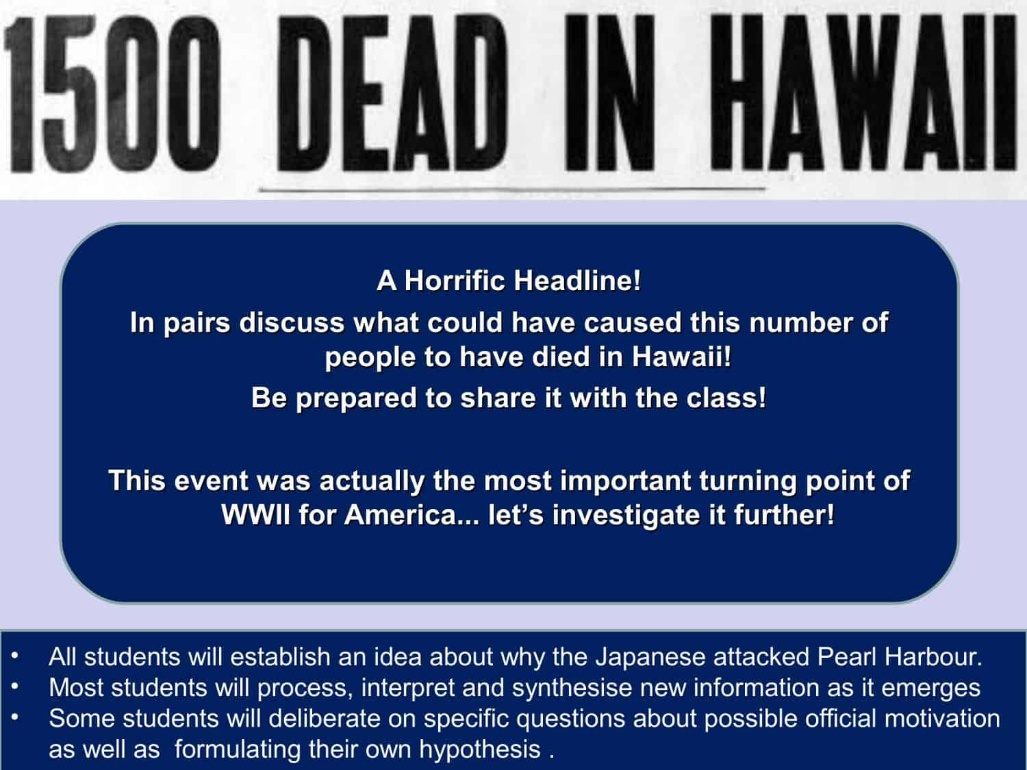Pearl Harbour Igcse Powerpoint