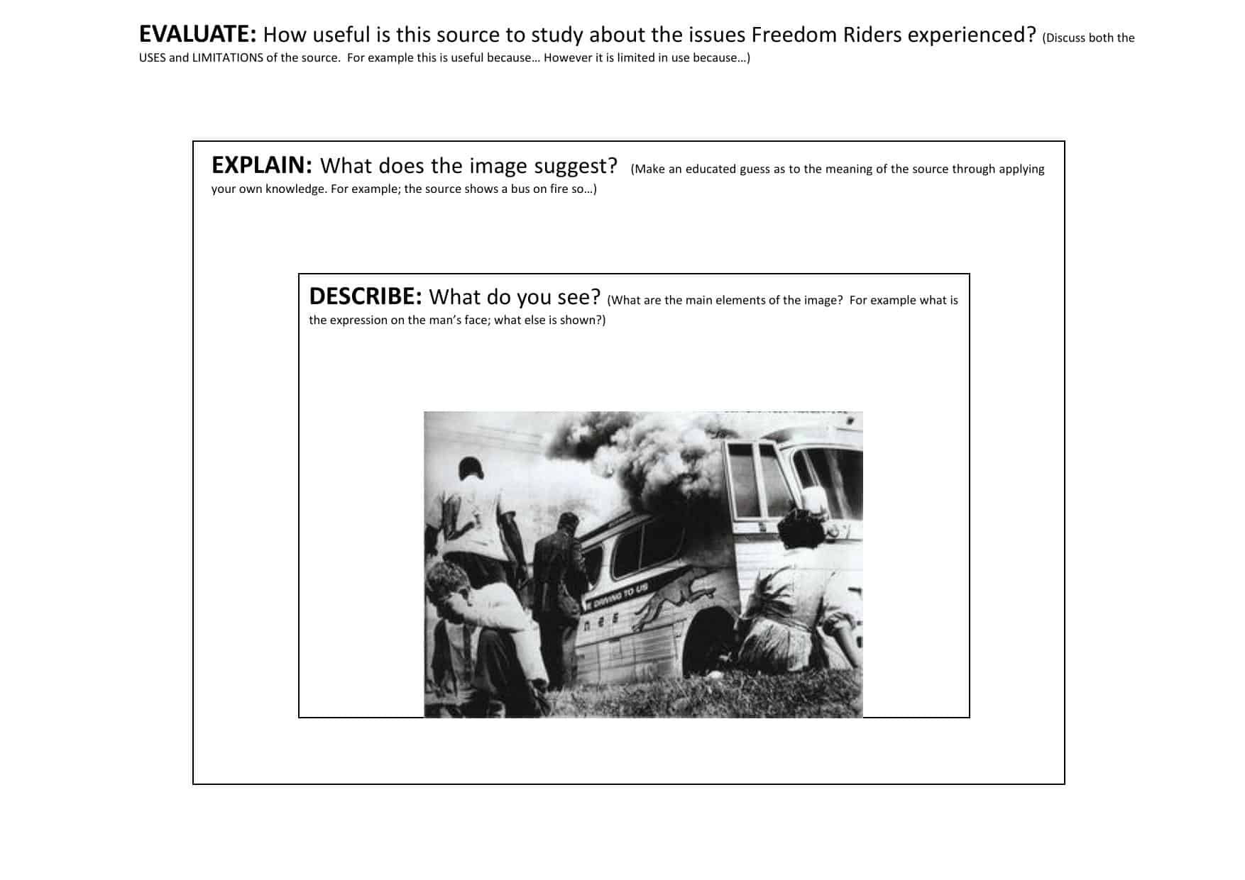 Freedom Rides Civil Rights Source Activity