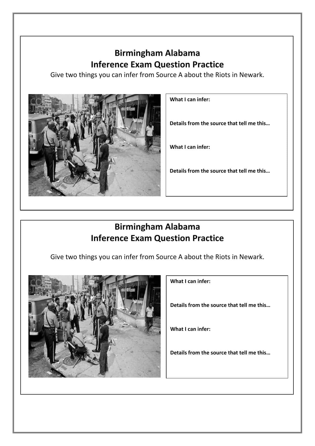 Newark Riots Gcse Source Activity