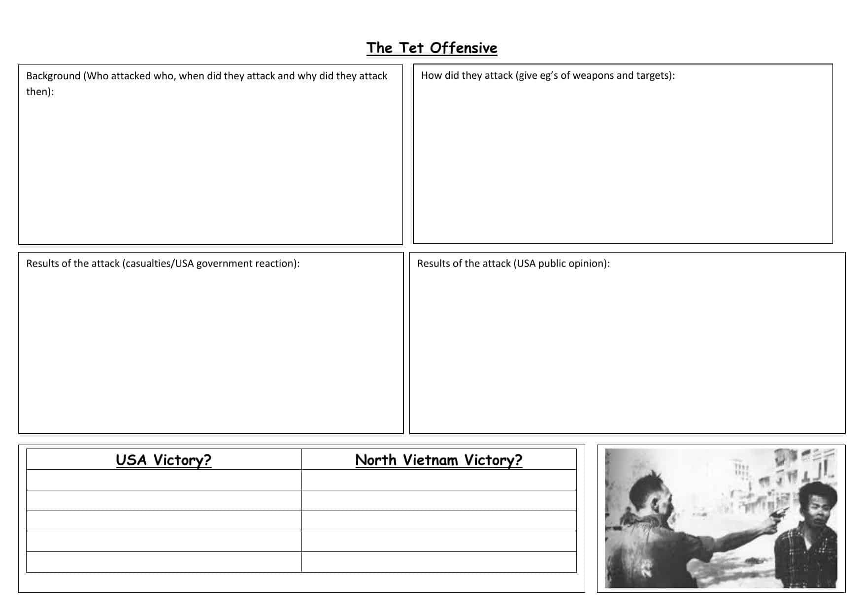 Vietnamese School Worksheet