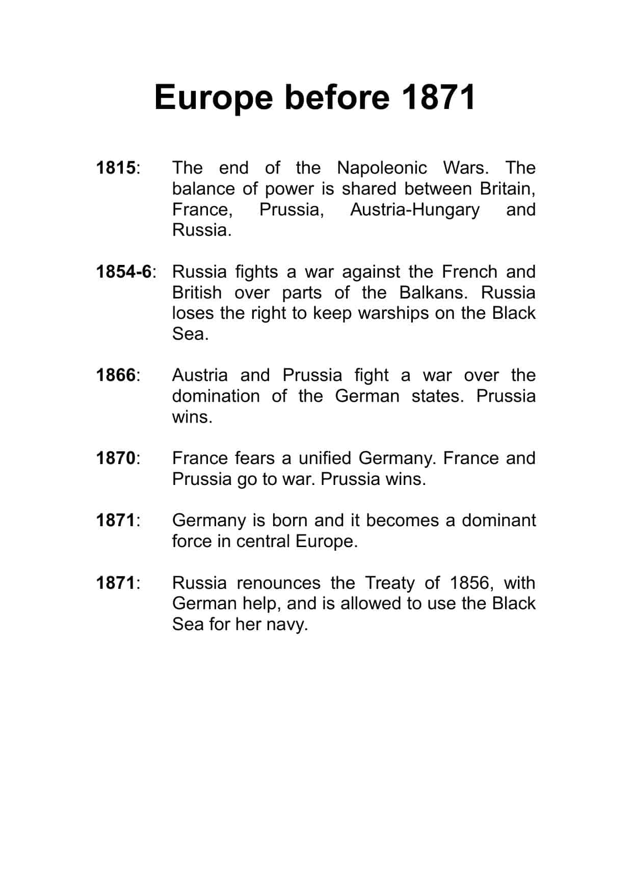 European Empire Worksheets