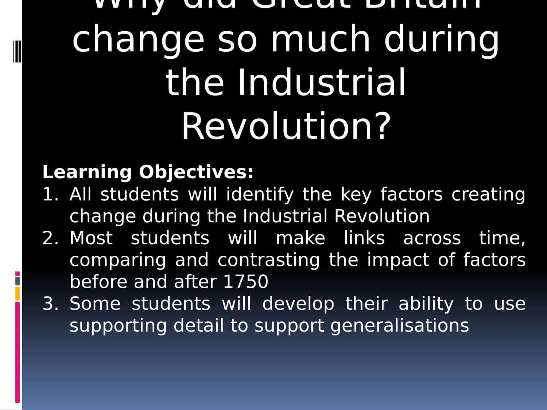 Industrial Revolution Worksheets