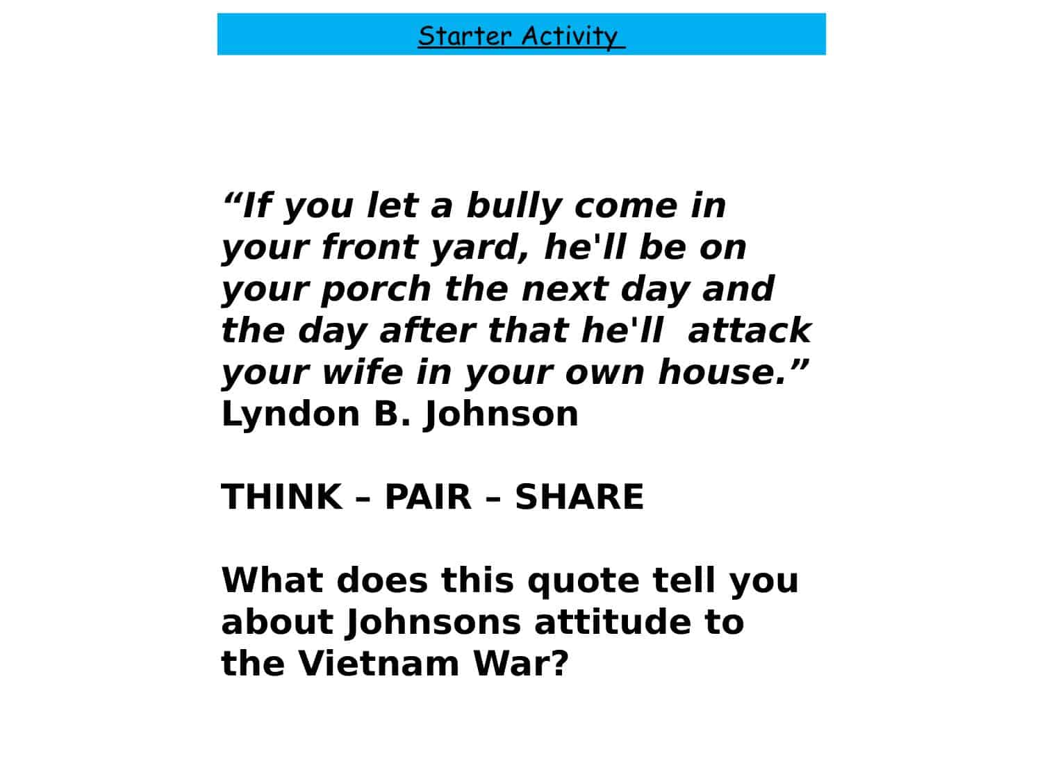 Vietnam War Worksheets