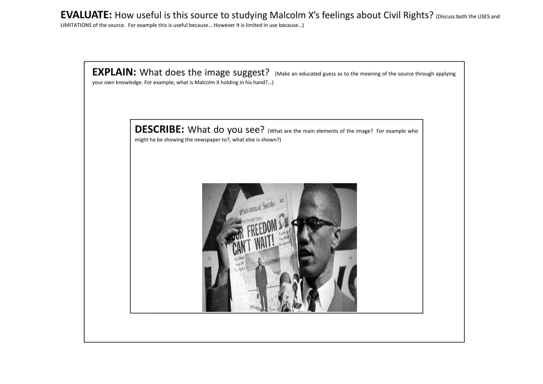 Civil Rights Movement Worksheets